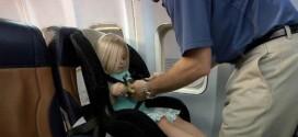 autostoel in vliegtuig