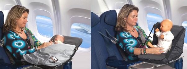 Slapen in het vliegtuig met de deryan air traveller for Baby op zij slapen kussen