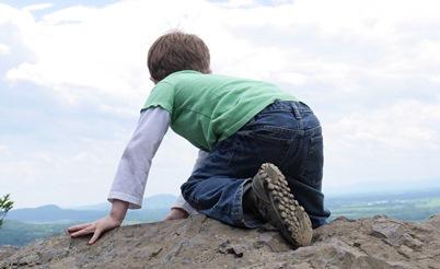 Bergwandelen kind