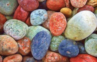 Gekleurde stenen