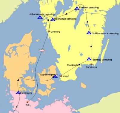Route rondreis Zuid-Zweden 2015