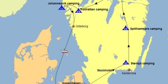 Route rondreis Zuid-Zweden