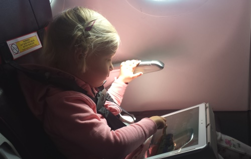 Tablet peuter vliegtuig