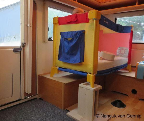 campingbedje in caravan