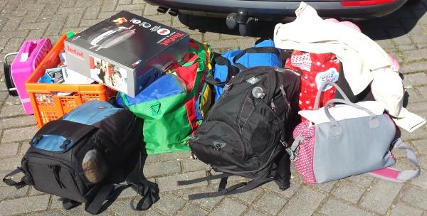 inpakken bagage auto