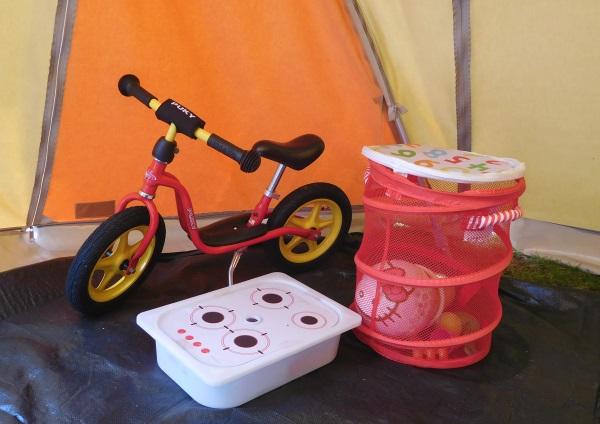 Speelgoed camping opbergen