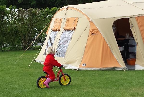 loopfiets camping