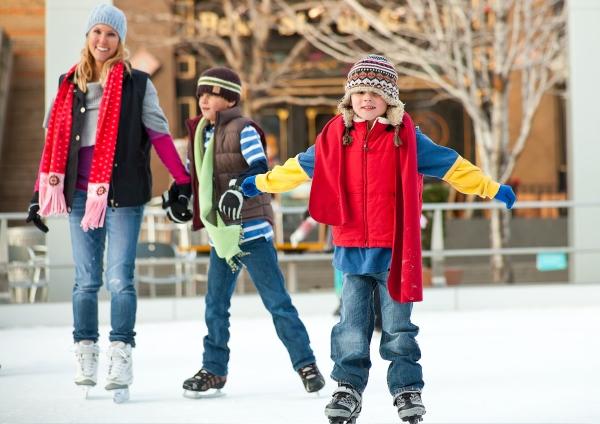 Vakantiepark schaatsen kinderen