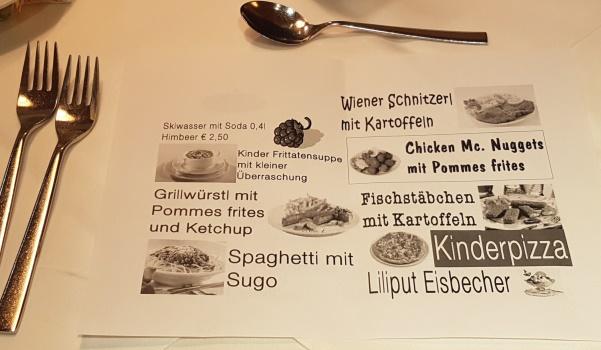 Hotel Römerhof kindermenu