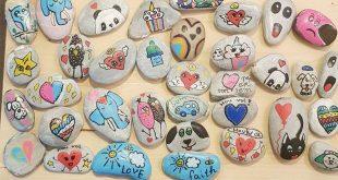 Stenen schilderen met kinderen