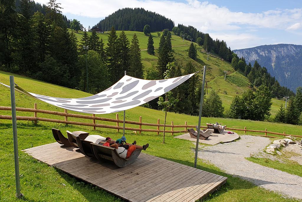 Uitzicht Hexenwasser bergen Oostenrijk