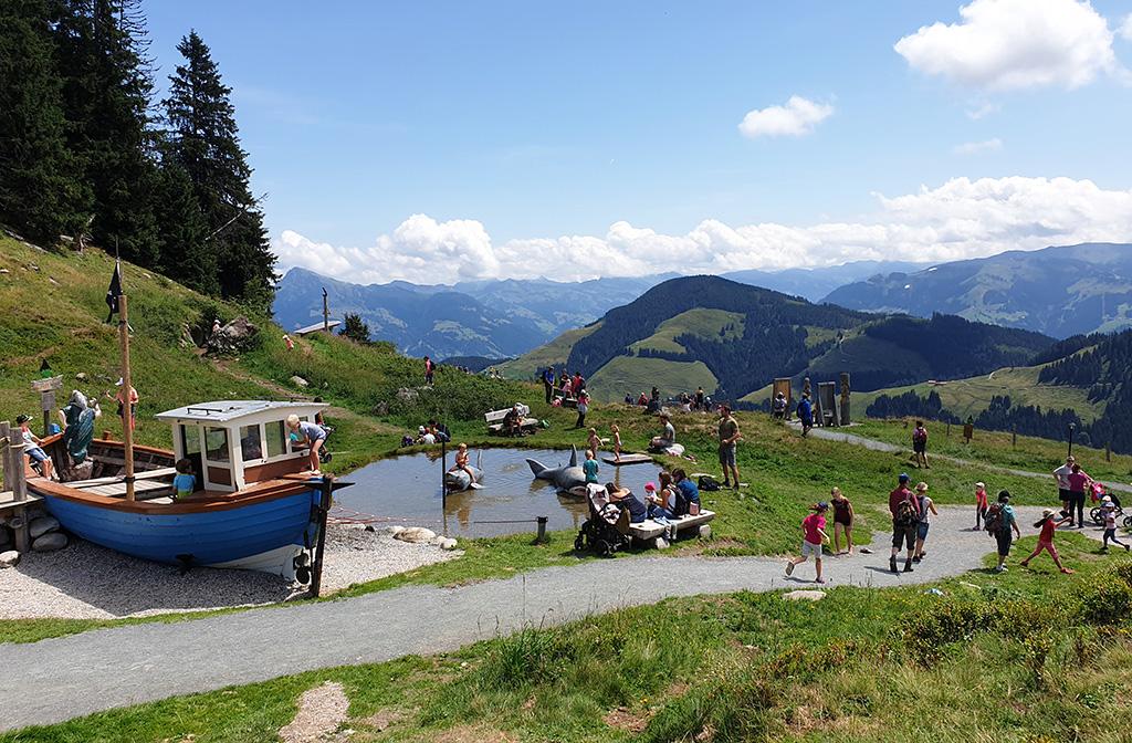 Oostenrijk bergen speeltuin Ellmau