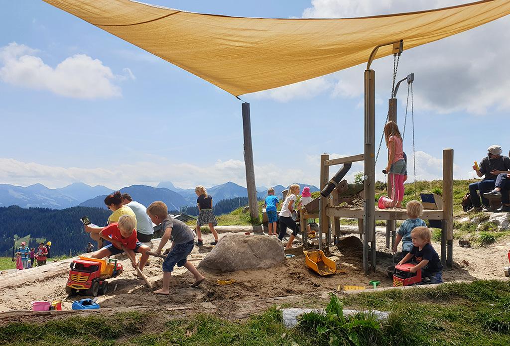 zandbak bergen Oostenrijk Ellmau